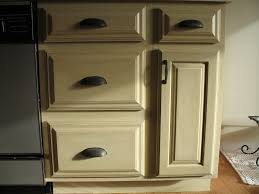 painted kitchen cabinets vintage cream: help kitchen paint colors with oak cabinets cream antique refinishing with black handle