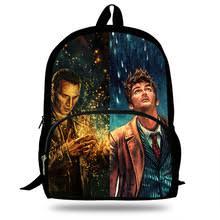 16-дюймовый <b>рюкзак</b> с принтом «Доктор Кто» для девочек ...