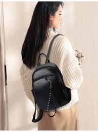 vintage sequin backpack female brand