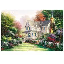 Круглая Алмазная вышивка, домашний пейзаж, <b>картина на</b> ...
