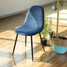 FurnitureR Dining Chair <b>Blue</b> Upholstery Side Parsons Chair Wood ...