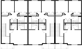 Triplex House Plans Best Selling Bedroom   Baths Car GarageUpper Floor Plan for Triplex House Plans  Bedroom House Plan
