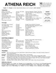 actor resume television dj resume resume format pdf