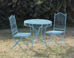 shabby chic metal bisto set in blue blue shabby chic furniture