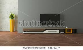 tv living room decoration rendering modern wall