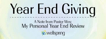 my personal year end review wellspring check your 2014 year to date giving