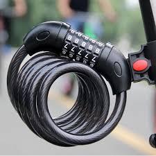 5 Digital <b>Bike Bicycle Code</b> Combination Lock Steel Cable 12mm X ...