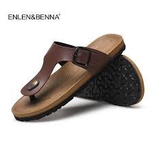 New <b>Mens</b> pu leather <b>Summer</b> Beach <b>Comfortable</b> casual <b>Slippers</b> ...