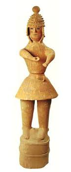 The soldier who is going to pull a sword The Kofun <b>period</b> art ...