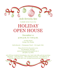 christmas holiday open house invitation jade serenity day spa christmas 2013 holiday open house invitation