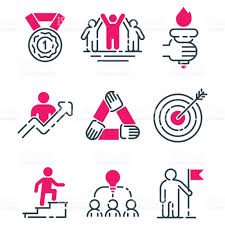 motivation concept chart pink icon business strategy development motivation concept chart pink icon business strategy development design and management leadership teamwork growth creativity office