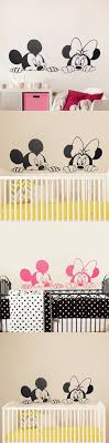 wall sticker chic girl bedroom decoration cartoon mickey minnie mouse cute animal vinyl wall stickers mural wall