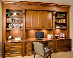 traditional desk wall unit built in home office cabinets