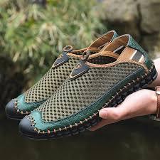 <b>Large Size Men</b> Hand Stitching Mesh <b>Outdoor</b> Soft Slip Resistant Flats