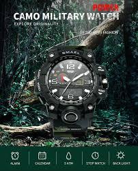 <b>SMAEL</b> Men Military 50m Waterproof <b>Digital Watches</b> Men's LED ...
