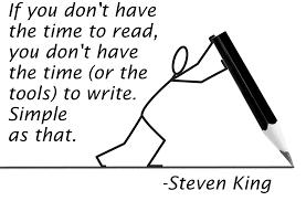 reading, writing, Steven King
