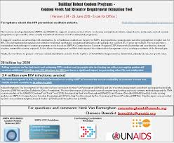 <b>Condom</b> Needs and Resource Requirement Estimation Tool – Unaids