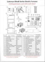 ebb coleman electric furnace parts hvacpartstore eb17b coleman electric furnace parts