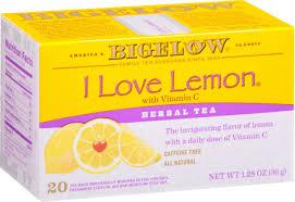 Bigelow I <b>Love</b> Lemon, <b>Herbal Tea</b>, Tea Bags, 20 Ct