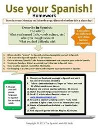 Real World Homework for Spanish classes   Students use their Spanish skills in the real world Pinterest