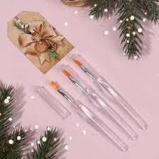 <b>Подарочный набор кистей для</b> макияжа, 3 предмета, с открыткой ...