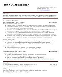 marketing resume examples    seangarrette comarketing