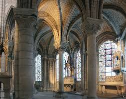 elegant monolithic columns support the ribbed vault as if it were weightless basilica saint denis