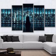 HD print 5pcs BATMAN AND GOTHAM <b>city canvas wall</b> art Painting ...