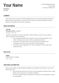 resume templates resume template 5 classic resume template