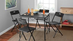 Mainstays <b>5 Piece</b> Resin Plastic Card Table and Four Chairs Set ...