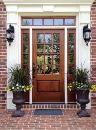 Charming Fiberglass Front Doors With Glass  Door