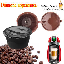 1/2/5PCS Reusable Diamond Cut <b>Refillable Capsules Coffee Filter</b> ...