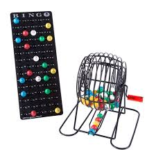 'Mysterious Black' Bingo Cage with Masterboard & <b>7</b>/8 Easy Read ...