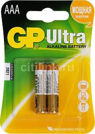 Купить AAA <b>Батарейка GP Ultra</b> Alkaline 24AU LR03 в интернет ...