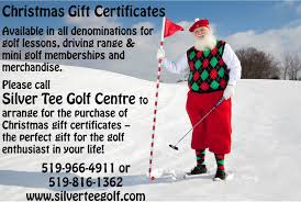 gift certificates for golfers windsor essex ontario silver tee christmas gift certificates for silver tee centre