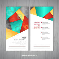 abstract flyer template vector abstract flyer template vector