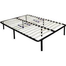 All Sizes Metal Platform Bed Frame With Wood Slats Adjustable Full  0