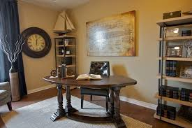 small office black leather office design