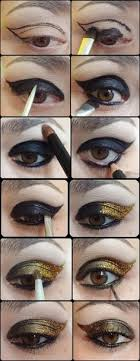 black and gold eye shadow tutorial eyeshadow makeup beauty
