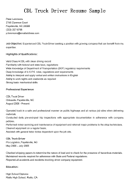 sample truck driver resumes   template   templatesample truck driver resumes