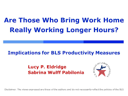 are those who bring work home really working longer hours implications for bls productivity measures bring work home home