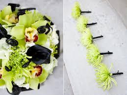 lime green black modern modern green and black wedding boutonnieres utah wedding flowers calie