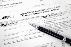 filing your taxes e file or paper file snap shot of form 4868