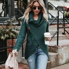 Daylook <b>Autumn new</b> knitted <b>sweater cardigan</b> high neck big buttons ...