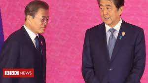 Leaders of <b>South Korea</b> and <b>Japan</b> meet to resolve dispute - BBC ...