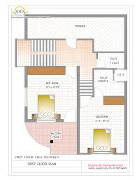 Duplex House Plan and Elevation   Sq  Ft    home applianceGround Floor Plan   Sq M   Sq  Ft     January Duplex House Plan and Elevation