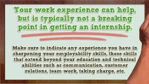 tips for internship resumes