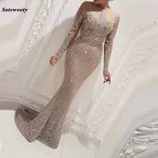 <b>Hot Sexy</b> Mermaid Sequined <b>Fabric</b> Evening Dresses <b>2019</b> Kaftan ...
