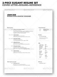 best resume templates   web  amp  graphic design   bashooka  piece elegant resume set