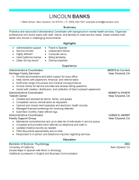 social services resume examples social services sample administrative coordinator resume sample